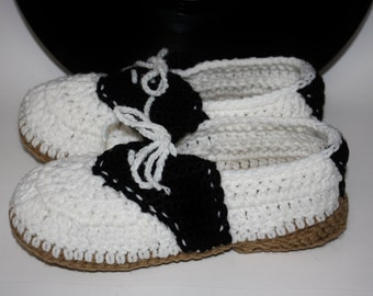 Saddle Shoe Slippers - Women House Shoes - Ladies Slippers - Indoor Shoes - House Shoe Slippers - Slippers Knitted - Warm Indoor Slippers