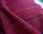 Handwoven Cotton Towel Red Festival blue green, handmade in Canada, artisan woven red kitchen linens, housewarming gift red accents