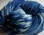 Merino Wool yarn Natural Dye plant dye indigo blue Canadian Merino 2-ply feltable wool knitting yarn