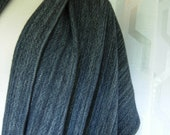Merino Wool grey black shawl extra large scarf grey gray with black handwoven easy care wool meditation wrap evening wear yoga blanket wrap