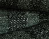 Wool Blanket Handwoven Grey tweed with Dark grey stripes Handmade Classic Wool non-superwash PW Canadian Wool