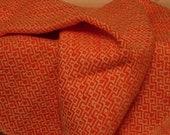 Orange handwoven Cotton Towel Flame orange w/white kitchen accessory handmade Canada retro classic bold elegant orange hostess gift,for Mom