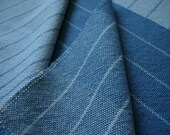 Handwoven Cotton Towel blue light and dark blues increasing and decreasing this listing is for the lighter one shown in the photo