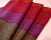 Handwoven Cotton Towel Santa Fe kitchen accent blue green red purple orange bold stripes chefs gift