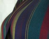 Handwoven tencel striped blue teal red burgundy maroon gold eco-friendly gift elegant scarf  hypoallergenic ladies unisex scarf veg fashion