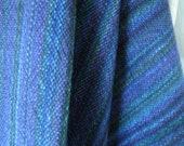 Merino Wool Peacock Shawl extra large scarf, jumbo scarf Purple Blue Black Green handwoven throw blanket easy care wool shawl heart chakra