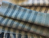 """Handwoven cotton towels blue and white hand towels 100% cotton heavier cotton towel guest towel blue kitchen accents 19.5x37-38"""""""