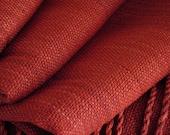 Peace Silk shawl handwoven Ahimsa silk hand dyed w/natural madder root  extra large shawl plant-based dye extra large scarf humane fashion