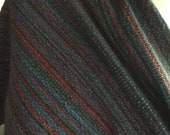 Merino Wool Shawl Multi Classic blue purple red black green, also handwoven extra large meditation wrap made for you  extra long scarf,