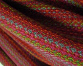 Organic Cotton linen blend shawl handwoven meditation shawl medium weight extra large scarf