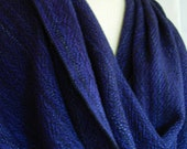 Handwoven Merino Wool Shawl/extra large scarf Divine Purple gift for wife wedding gift birthday gift easy care wool, long shawl, meditation