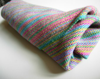 Handwoven Cotton Washable Napkins set of 4 reuseable light blue pink turquoise green yellow spring altar cloth table center face cloth