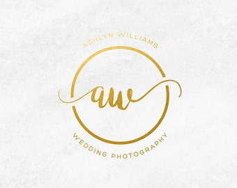 Wedding Photography Logo, Photographer Logo, Photography Watermark, Gold Logo Design, Gold Business Logo, Premade Logo, Gold Business Cards