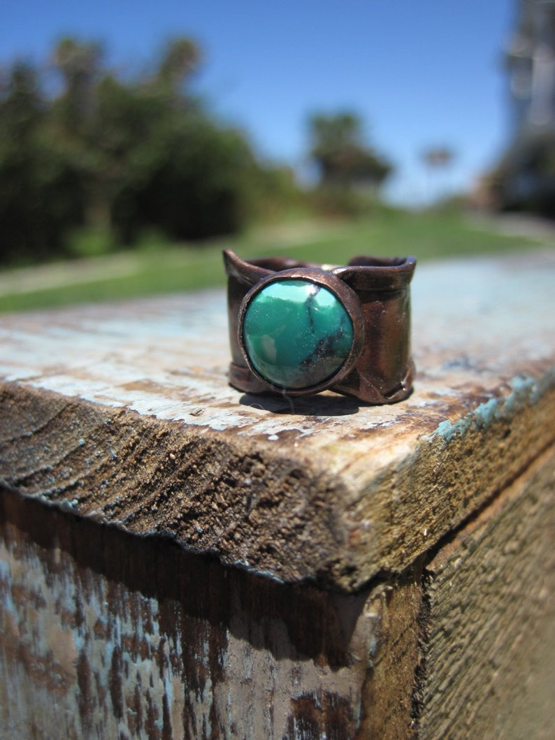 Turquosie and Copper Ring Size 6 image 0