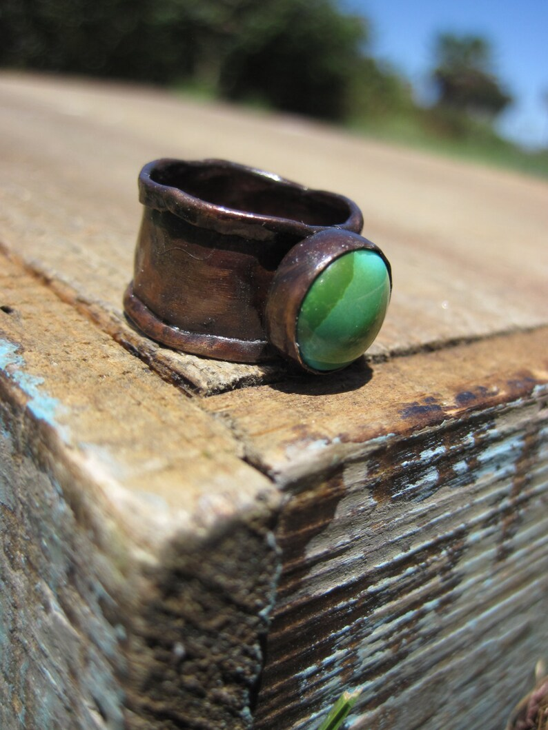 Turquosie and Copper Ring Size 7 image 0