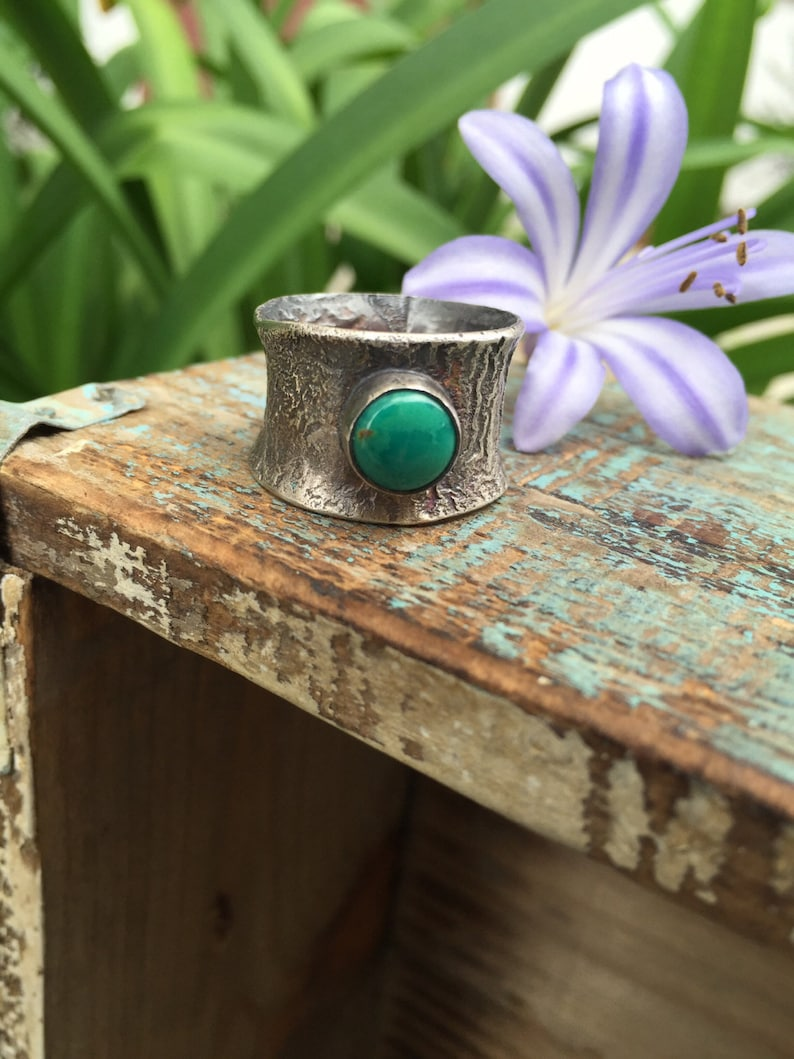 Reticulated turquoise ring image 0