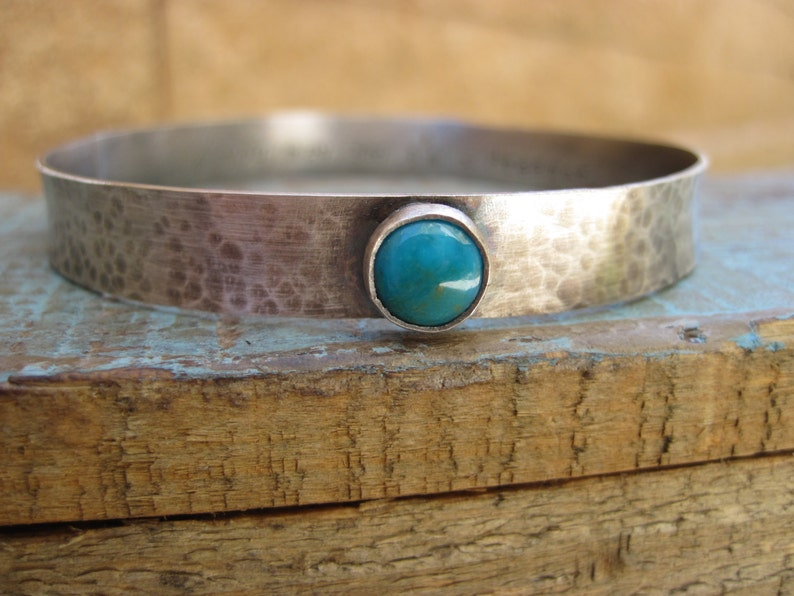 Dreamer bangle Silver and turquosie bracelet image 0