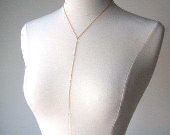 The Supermodel Delicate Body Chain, body jewelry, bikini body chain, gold solid gold sterling silver rose gold body chain, Chaînes de corps