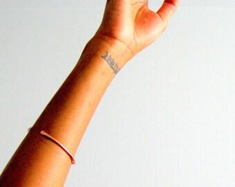 Rose Gold Arm Cuff Bracelet, open cuff bracelet, summer jewelry valentines day, bridesmaid gift, simple bracelet bangle summer jewelry gift