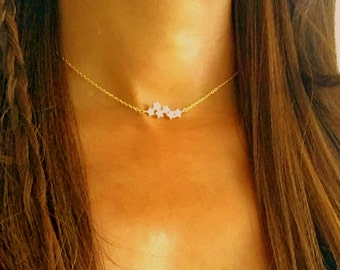 Gold Star Choker, star choker, star necklace, choker necklace, necklace choker thin, delicate gold choker ,simple gold choker, dainty choker