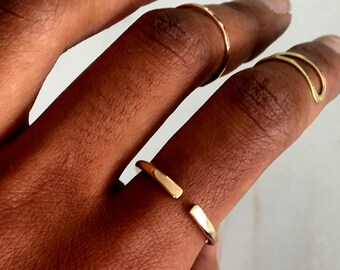 Gold Open Cuff Ring, open ring, adjustable ring, minimalist ring, dainty ring, simple ring, statement ring, stacking ring, stackable ring