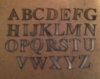 5 Tall Metal Letters Times Roman Font Steel Wall Art Ornament Inch Alphabet PER LETTER