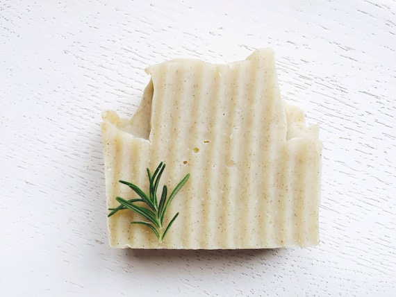 HANDMADE SOAP - Rosemary Eucalyptus Walnut Organic Coconut Milk Soap - exfoliating soap - natural handmade soap - vegan