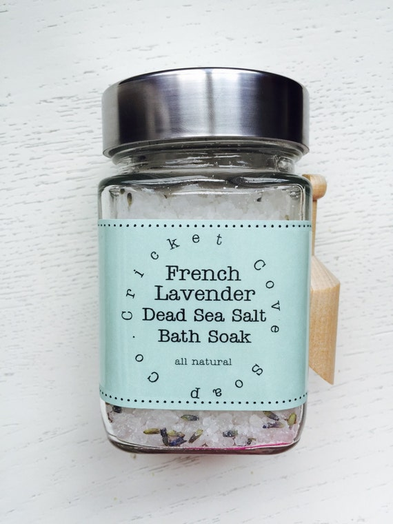 BATH SALTS - Lavender Bath Salts - Lavender Dead Sea Salt Bath Soak - All Natural Bath Salts - Vegan