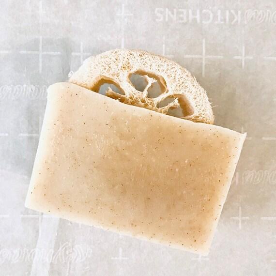 Rosemary Peppermint Loofah Spa Scrub Soap - Loofah - Handmade Scrub Soap - Natural Soap - vegan soap