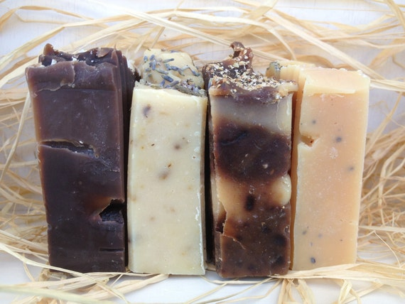 Set of Four Handmade Soap - Handmade Soap - Soap Set - homemade Soap Set