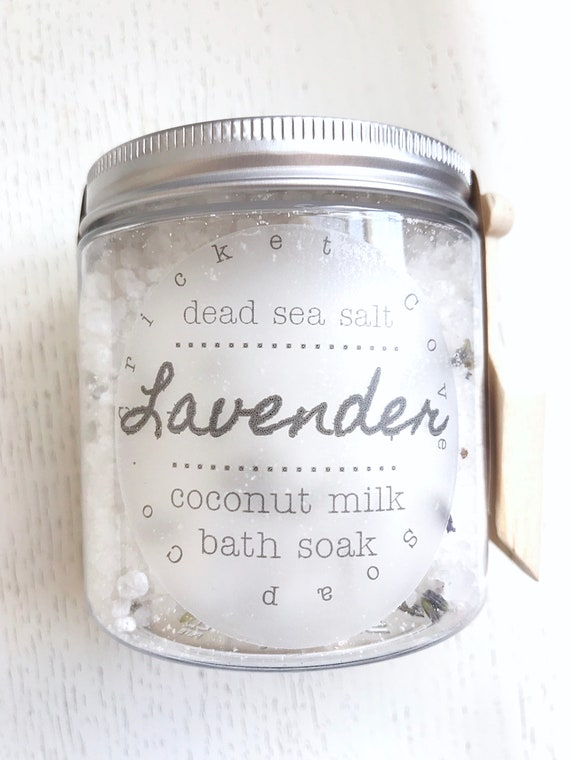 Lavender Coconut Milk BATH SALTS - Lavender Bath Salts -  Bath Soak - All Natural Bath Salts - Vegan