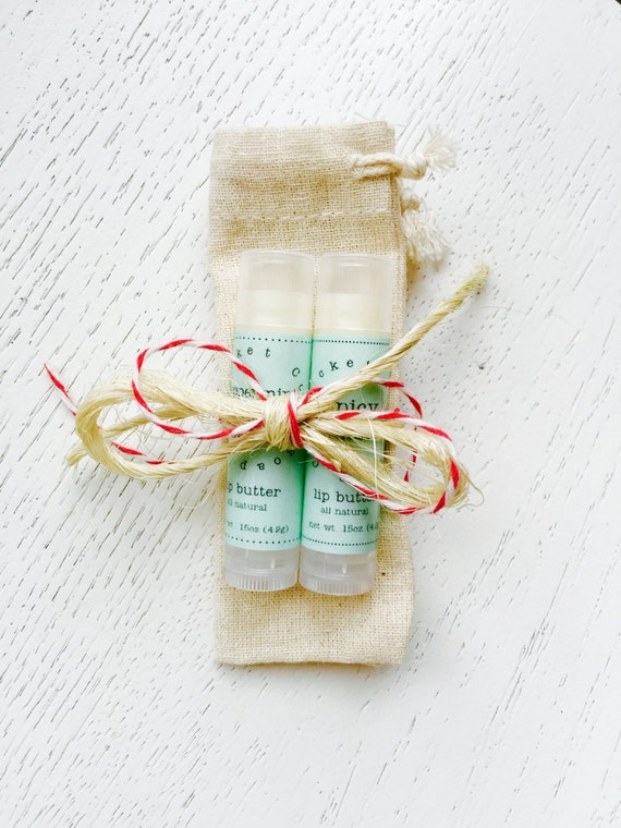 Holiday Lip Butter Gift Set - lip balm - holiday gift set - stocking stuffer