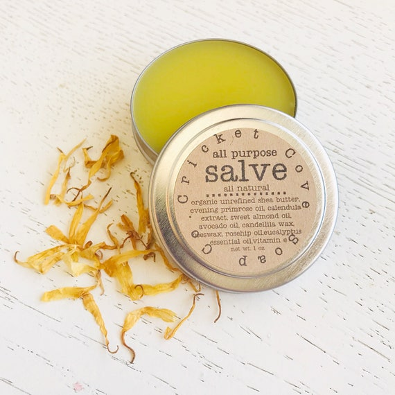 SALVE -  All Natural Salve - All Purpose Salve - Solid Lotion - Organic Shea Butter Salve - Reusable Tin