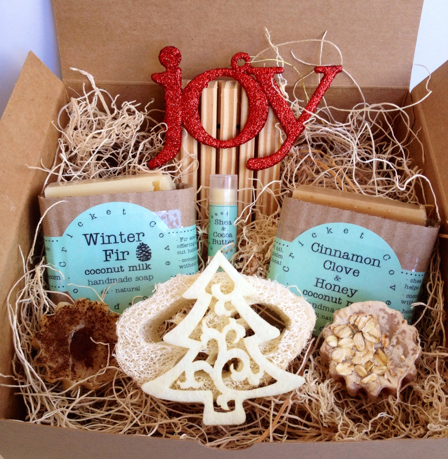 Christmas SOAP GIFT SET - Soap Gift Basket - Holiday Gift Idea ...