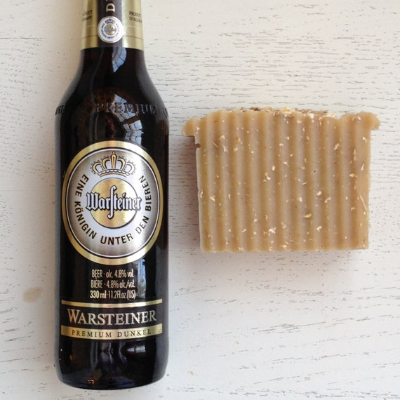 HANDMADE BEER SOAP - Bavarian Oatmeal All Natural Beer Soap - Handmade Soap - Beer Soap - Vegan - cold process - Father's Day