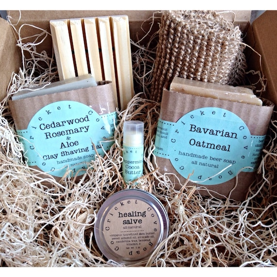 MEN'S SOAP SET - Father's Day- Beer Soap  - Handmade Soap Gift Basket - holiday gift box - beer soap - gift for him - dad
