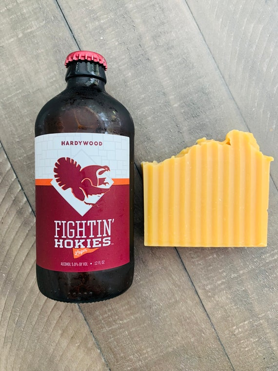 Hokie Bar Beer Soap - Virginia Tech - beer soap - lager - Fighting Hokies - natural soap