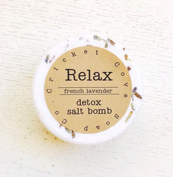 Bath Salt Bomb - Lavender Dead Sea Salt Bath Soak - All Natural Bath Salt - bath bomb