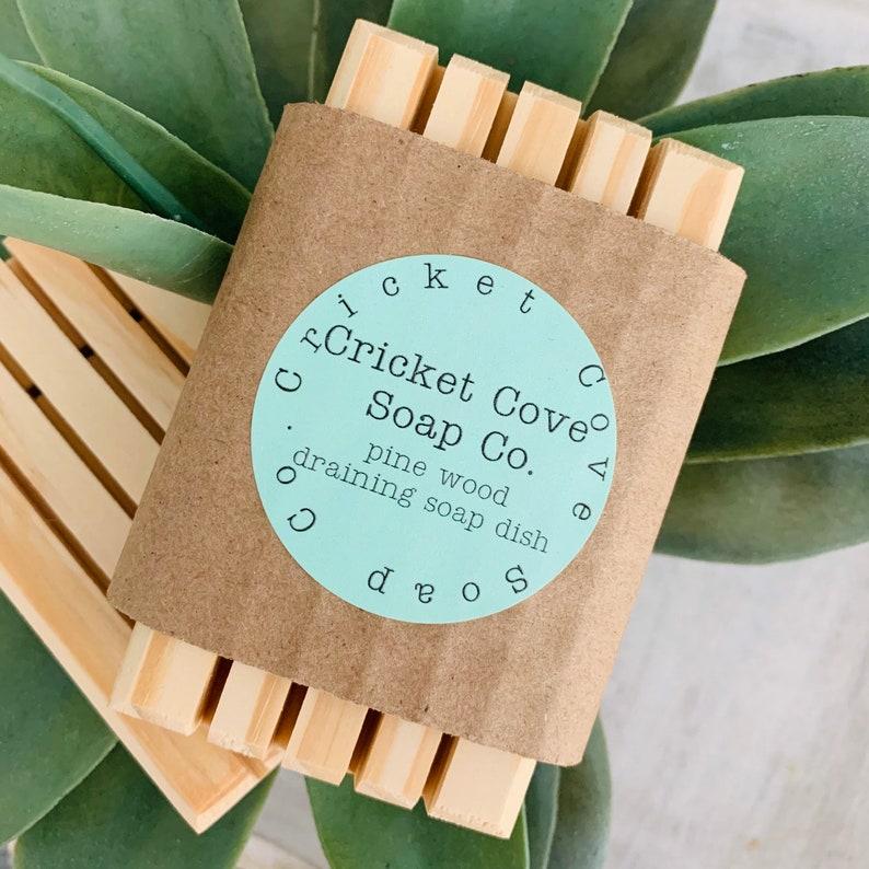 SOAP DISH   Pine Wood Draining Soap Dish for Handmade Soap  image 0