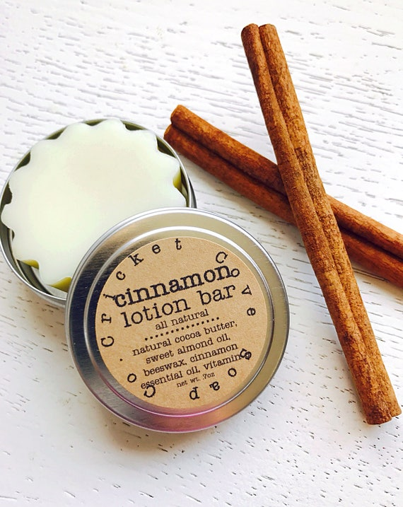 Cinnamon Lotion Bar - solid lotion - hand lotion - stocking stuffer