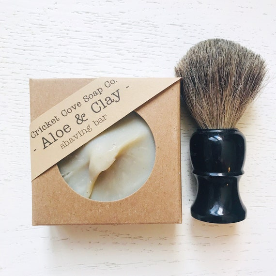 SHAVING SOAP - Father's Day - Aloe and Clay Shaving Bar - Cedarwood and Rosemary - shaving