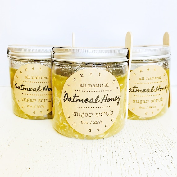 Oatmeal Honey Sugar Scrub - body scrub - hand scrub - lip scrub - bath scub