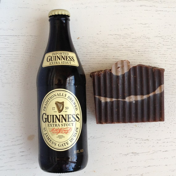 Decadent Dark Beer Soap - Guinness BEER SOAP - gift for him - Dad - stocking stuffer - Handmade Soap - Vegan - Cold Process -