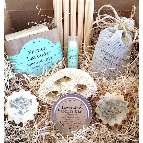 Mother's Day Lavender Lover's SOAP GIFT SET - Gift Set for Her - Mom - Soap Box Set - Soap Gift Basket - homemade soap gift - soap