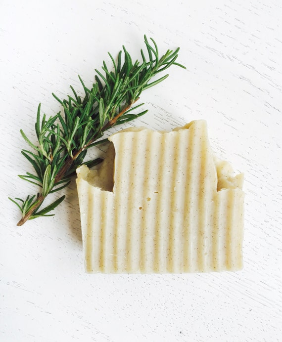 HANDMADE SOAP - Rosemary Eucalyptus Walnut Organic Coconut Milk Soap - exfoliating soap - natural handmade soap - vegan