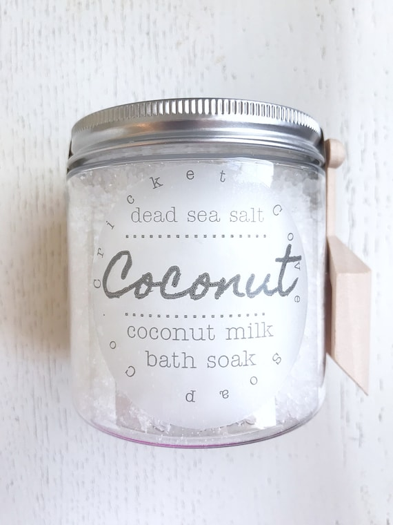 COCONUT BATH SALTS - Dead Sea Salt Bath Soap - all natural bath salts - detox bath salts - Christmas gift - gift for her