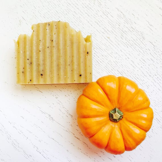 PUMPKIN NUTMEG SPICE soap - Orange Pumpkin Spice Natural Handmade Soap - Natural Handmade Soap - Pumpkin Soap - Vegan Soap