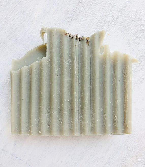 Rosemary Lavender Organic Coconut Milk Soap - green clay - vegan soap - natural soap - homemade