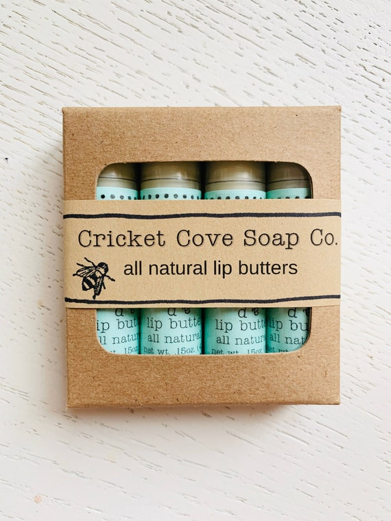 LIP BUTTER SET - Gift Set - Set Of Four All Natural Lip Butters - Lip Butter - chapstick - lip balm
