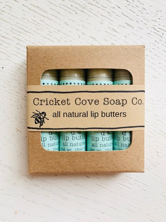 LIP BUTTER SET - Gift Set - Set Of Four All Natural Lip Butters - Lip Butter - chapstick - lip balm